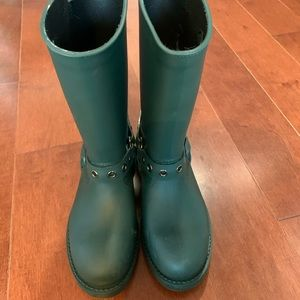 Valentino RED Rainboots in Forest Green   Size 39